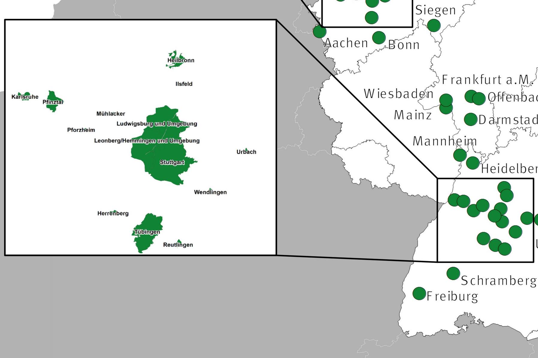 Umweltzone Karlsruhe Karte.Deutschland Umweltzonen Niedrig Emissionszonen
